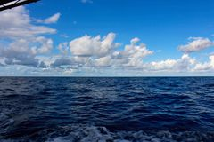 Sea with beautiful blue sky Royalty Free Stock Photo