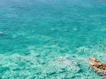 Azure bay. Beautiful, clean, clear Mediterranean Sea Stock Photo