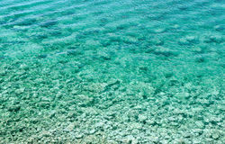 Azure bay. Beautiful, clean, clear Mediterranean Sea Royalty Free Stock Photography