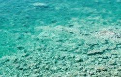 Azure bay. Beautiful, clean, clear Mediterranean Sea Royalty Free Stock Image