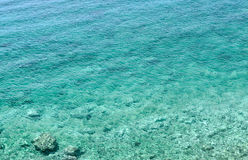 Azure bay. Beautiful, clean, clear Mediterranean Sea Royalty Free Stock Images