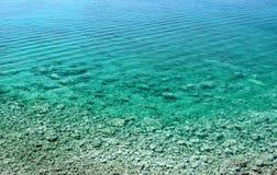 Azure bay. Beautiful, clean, clear Mediterranean Sea Royalty Free Stock Photos