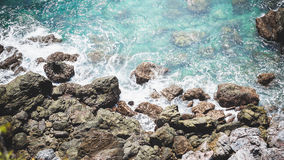 Sea. Beautiful sea on the cliff royalty free stock photography