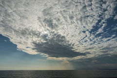 Sea and beautiful clouds. Distant storm Royalty Free Stock Images
