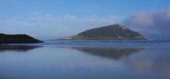 Sea and beautiful island with beach Stock Photos