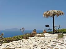 Sea. Beautiful landscape seen from Plaka, capital city of Greek island Milos Royalty Free Stock Photo