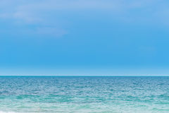 Sea. Beautiful sea and sky in the afternoon sunday Stock Photos