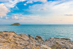 Sea. Beautiful sea and sky in the afternoon sunday Stock Photo