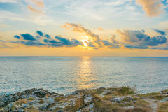 Sea. Beautiful sea and sky in the afternoon sunday Royalty Free Stock Photography