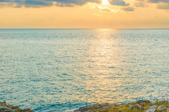 Sea. Beautiful sea and sky in the afternoon sunday Royalty Free Stock Photos