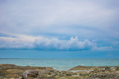 Sea. Beautiful sea and sky in the afternoon sunday Stock Images