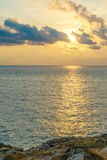 Sea. Beautiful sea and sky in the afternoon sunday Royalty Free Stock Image