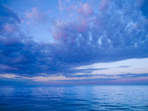 Sea with beautiful sky Royalty Free Stock Image
