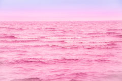 Sea. Beautiful sunrise over the pin sea Royalty Free Stock Images