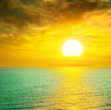 Sea and Beautiful sunset Stock Photography