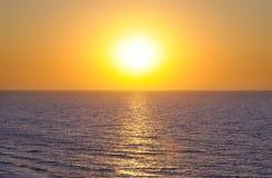 sea and Beautiful sunset Royalty Free Stock Photo