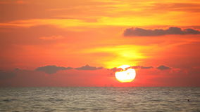 Sea beautiful sunset. Tropical sea at beautiful sunset. Nature background. Fast motion stock footage