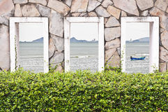 Sea Behind the wall. Stock Photos