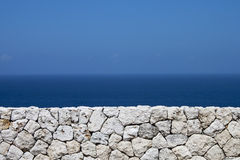 The sea beyond the wall Royalty Free Stock Photography