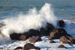 Sea in Biarritz Stock Photos