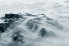 Sea in Biarritz Stock Image