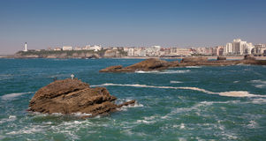 Sea in Biarritz. Aquitaine, France Royalty Free Stock Photography