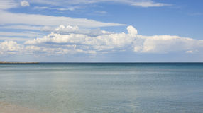 Sea with big cloud Stock Image