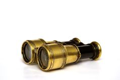 Sea binoculars 1. 100 old sea binoculars  with reflection Stock Images
