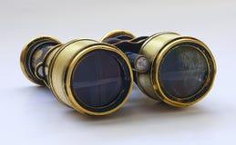 Sea binoculars n1. 100 old sea binoculars  with reflection Royalty Free Stock Image