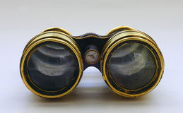 Sea binoculars n2. 100 old sea binoculars  with reflection Royalty Free Stock Photos