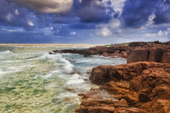 Sea Birubi Rocks Waves Stock Photography