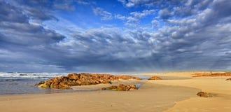 Sea Birubi Sunrise panorama Stock Image