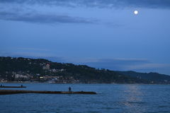 Sea. Black sea in the moonlight Royalty Free Stock Photography
