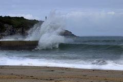 Sea blow Stock Image