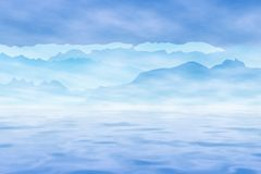 Sea, Mountains and Sky. Graphic illustration of sea, mountains and sky royalty free illustration
