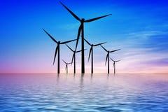 Sea blue power Stock Image
