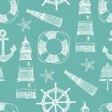 Sea blue seamless background stock illustration