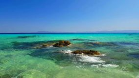 Sea shore. Sea blue shore at summer stock footage