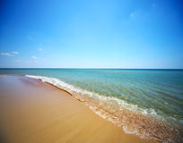 Sea and blue sky Stock Images