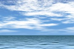 Sea with blue sky Royalty Free Stock Images