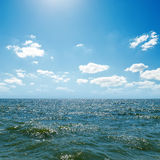 Sea and blue sky Royalty Free Stock Photos
