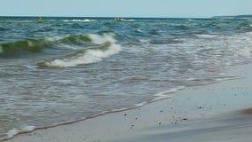 Sea on a blue sky stock video