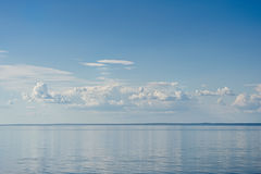 Sea on blue sky background Royalty Free Stock Photo