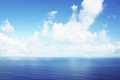 Sea and blue sky background Stock Photos