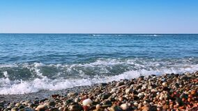 Sea and blue sky. Sea beach and summer blue sky.Nature sea background stock video footage