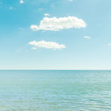 Sea and blue sky with clouds Royalty Free Stock Image