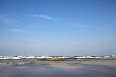 Sea and blue sky. Hua-hin beach in Thailand Stock Image