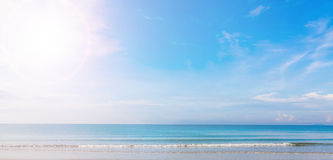 Sea and blue sky Royalty Free Stock Photo