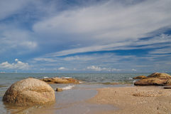 Sea and blue sky. Blue sky at rayong thailand Stock Photo