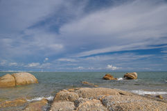 Sea and blue sky. Blue sky at rayong thailand Royalty Free Stock Image